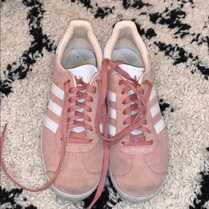 adidas mauve gazelles worn but still in very good